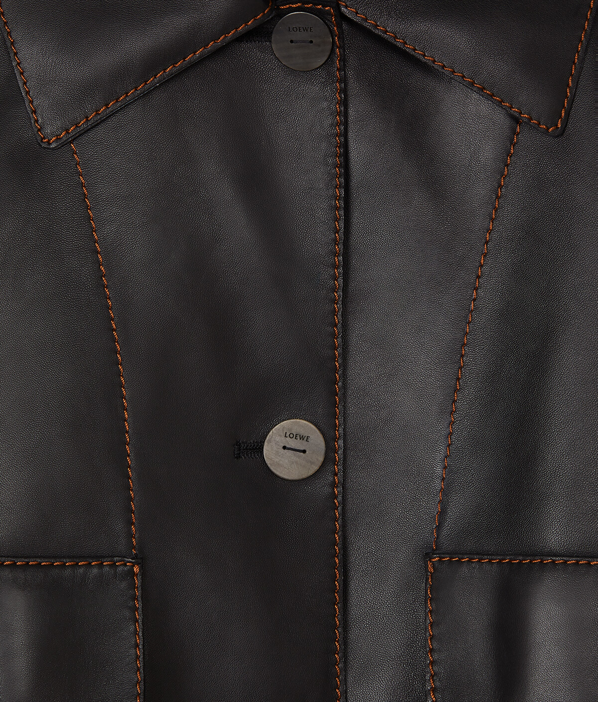 LOEWE Button Jacket 黑色 front