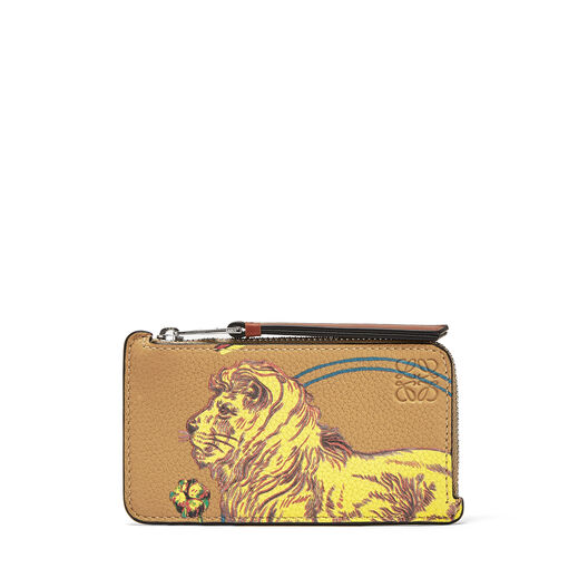 LOEWE Coin/Card Holder Lion Desert front