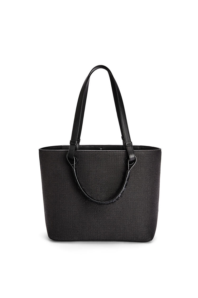 LOEWE Small Anagram Tote bag in jacquard and calfskin Anthracite/Black pdp_rd