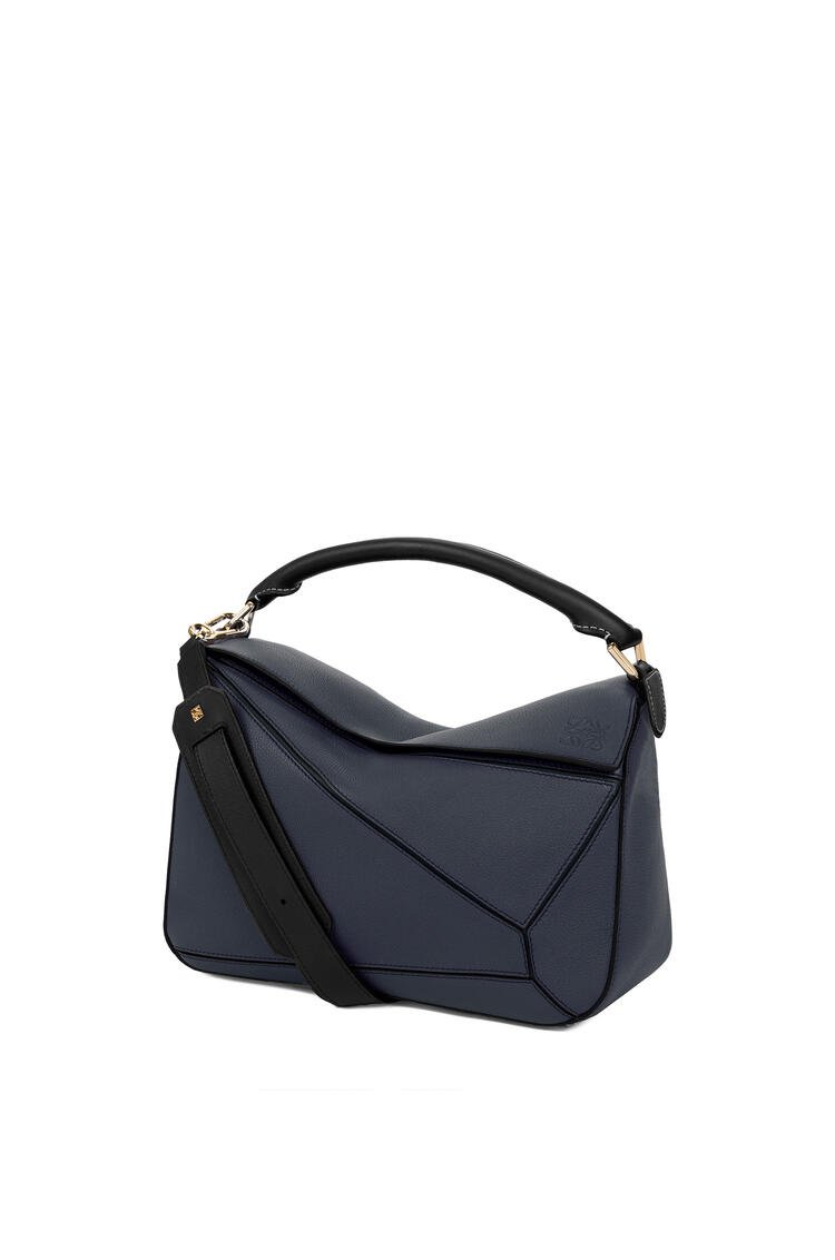 LOEWE Puzzle Bag In Soft Grained Calfskin Midnight Blue/Black pdp_rd
