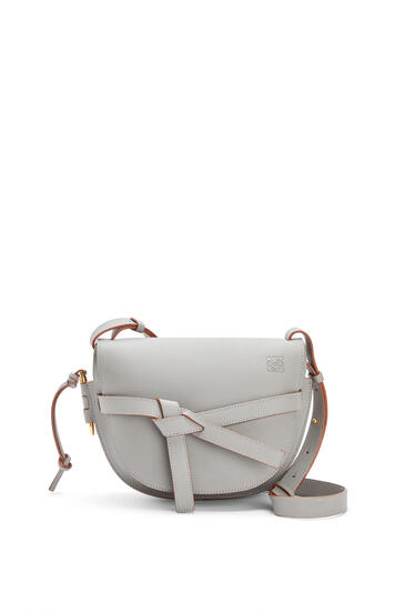 LOEWE Small Gate bag in pebble grain calfskin Smoke pdp_rd