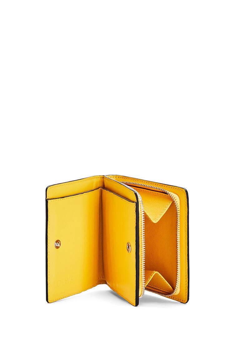 LOEWE Cartera compacta L.A. Series en piel de ternera Amarillo/Multicolor pdp_rd