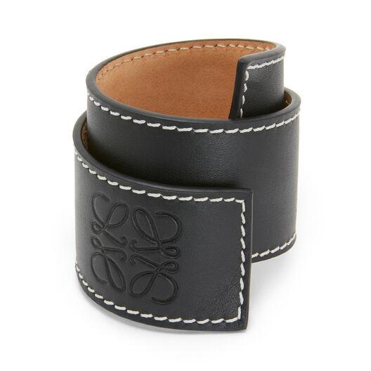 LOEWE Small Slap Bracelet Black front