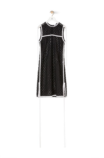 LOEWE Sleeveless Lace Top Negro front