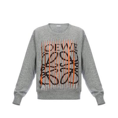LOEWE Loewe Cut Sweater Grey front