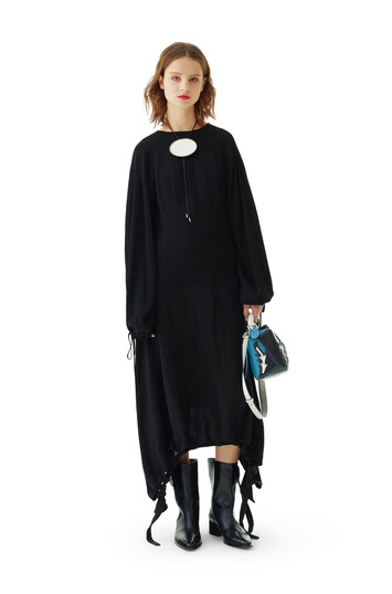 LOEWE Drawstring Balloon Dress Black front