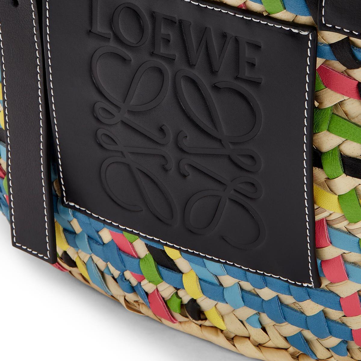 LOEWE Basket Bag Blue Multitone/Black front