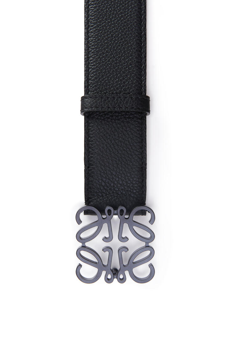 LOEWE Anagram belt in grained calfskin Black pdp_rd