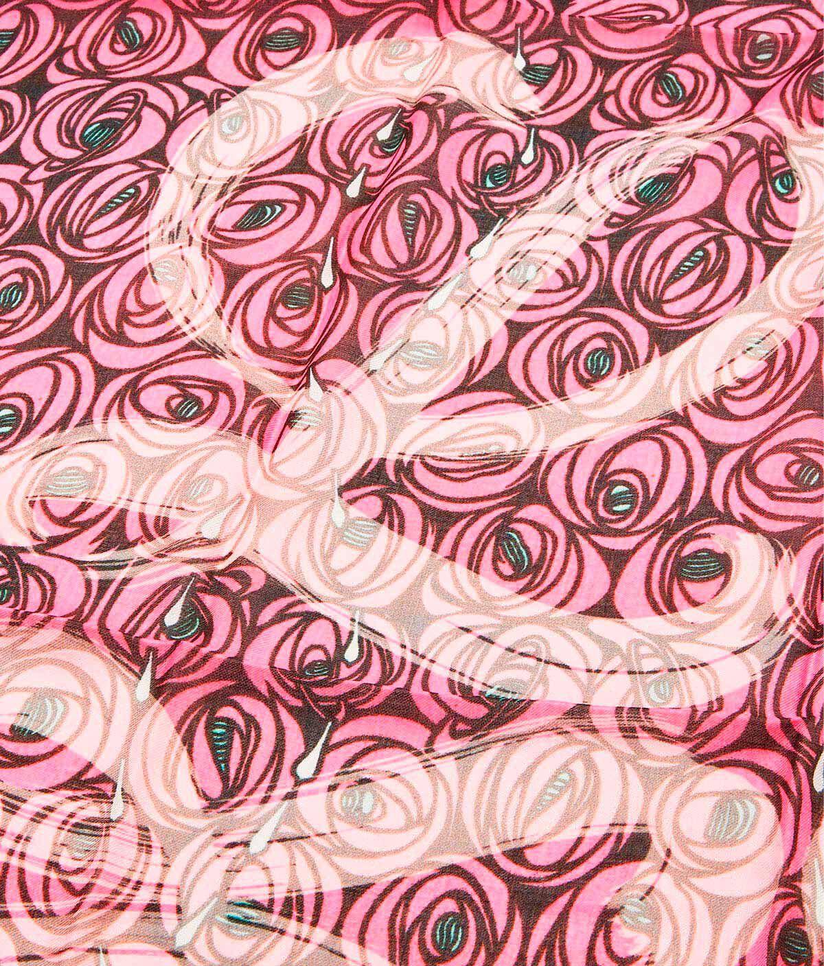 LOEWE 140X140 スカーフローズオールオーバー ピンク all