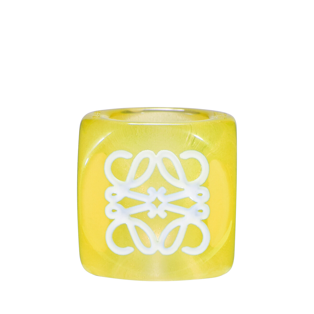 LOEWE Anagram Small Dice Yellow front