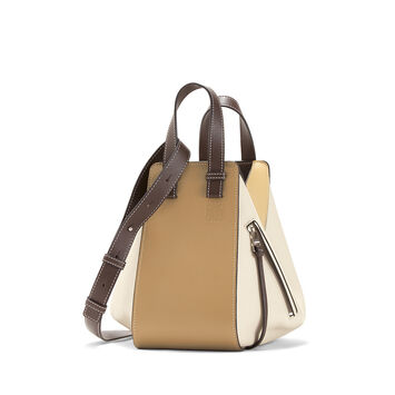 LOEWE Hammock Small Bag Mocca Multitone front
