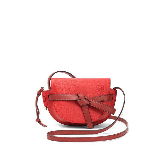 LOEWE ミニゲートバッグ Scarlet Red/Burnt Red front