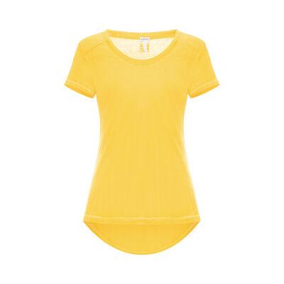 LOEWE Scoop Neck T-Shirt Yellow front