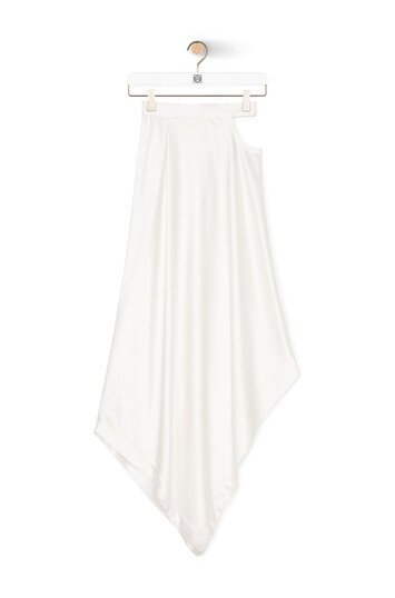 LOEWE Satin Skirt White front