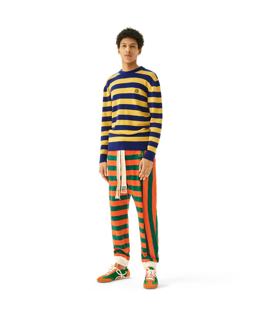 LOEWE Stripe Jersey Trousers orange/green front