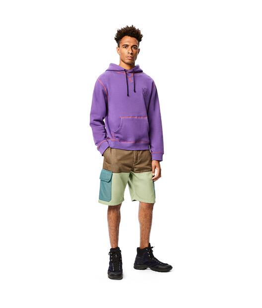 LOEWE Eln Hoodie Purple front