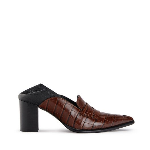 LOEWE Pointy Loafer 70 Brown/Black front