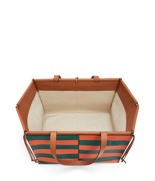 LOEWE Cushion Tote Rugby Large Orange/Green front