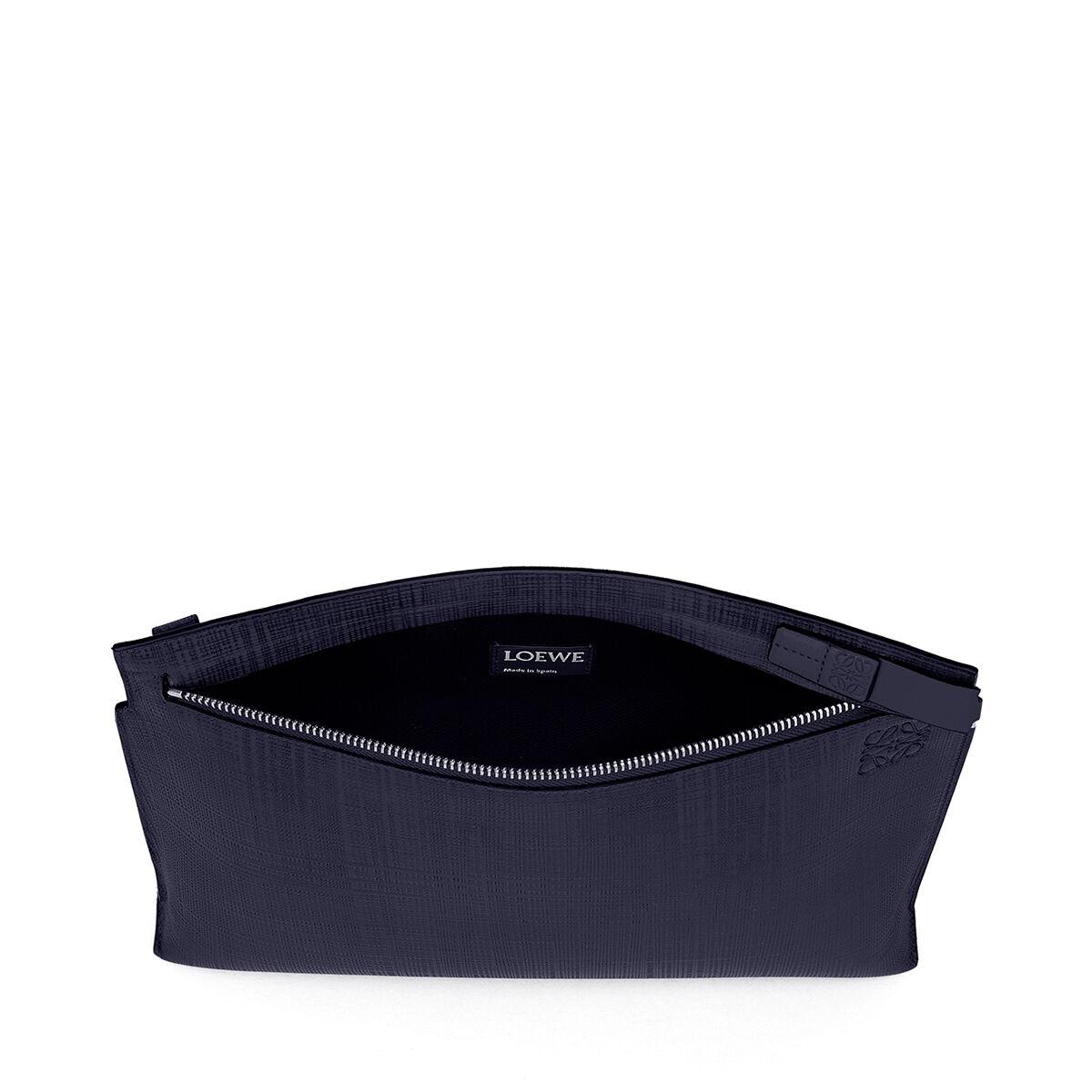 LOEWE T Pouch Linen Navy Blue all