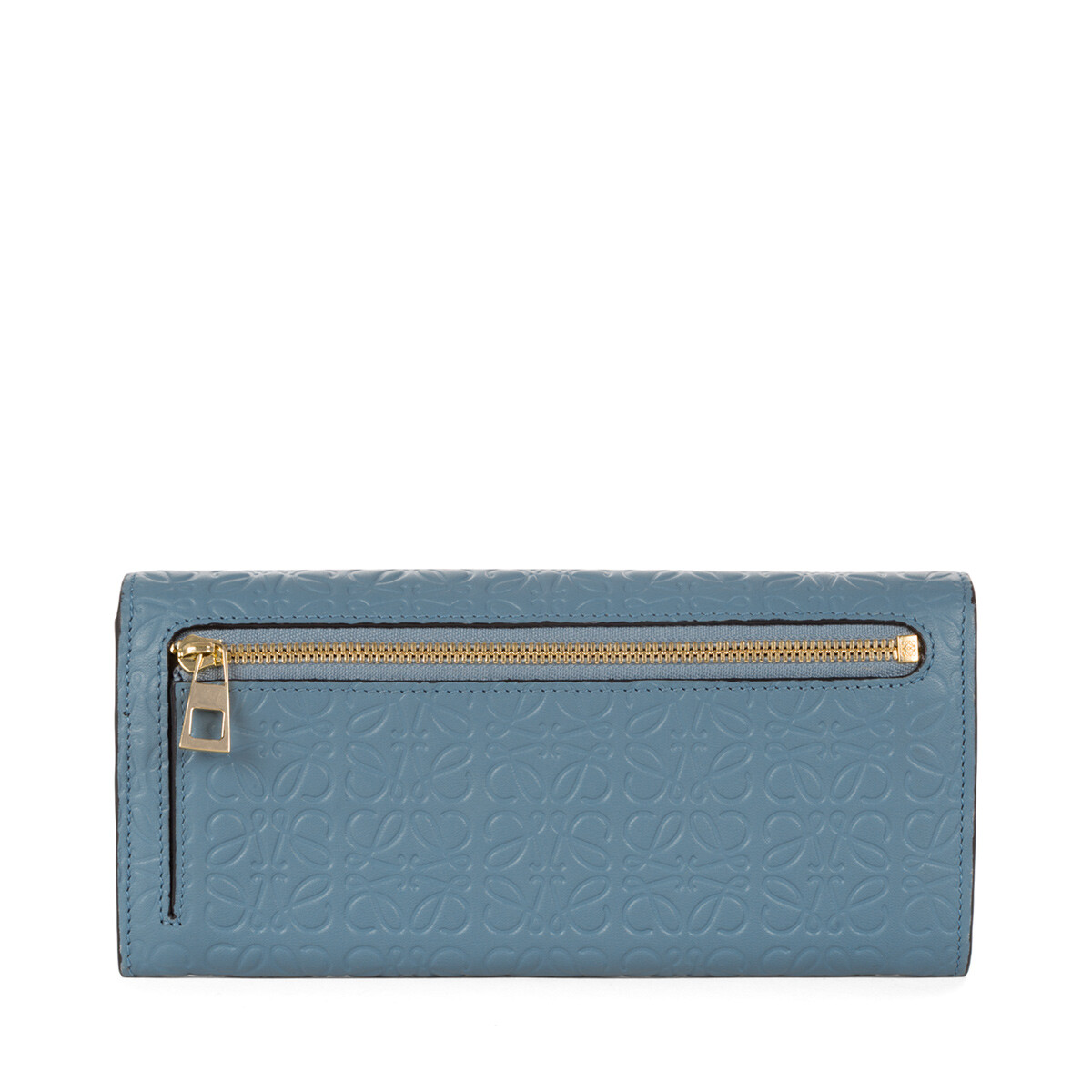 LOEWE Repeat Continental Wallet Stone Blue front