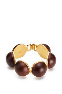 LOEWE Mini Globe bracelet in wood Brown pdp_rd