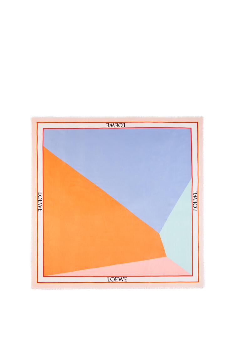 LOEWE Pañuelo puzzle en modal y cachemira Morado/Naranja pdp_rd