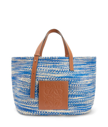 LOEWE Paula's Basket Large Bag blue/tan front