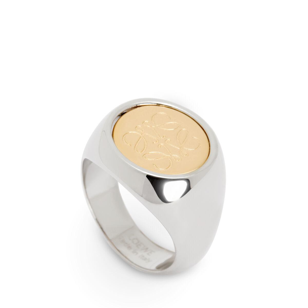LOEWE Flip Ring Palladium/Gold front