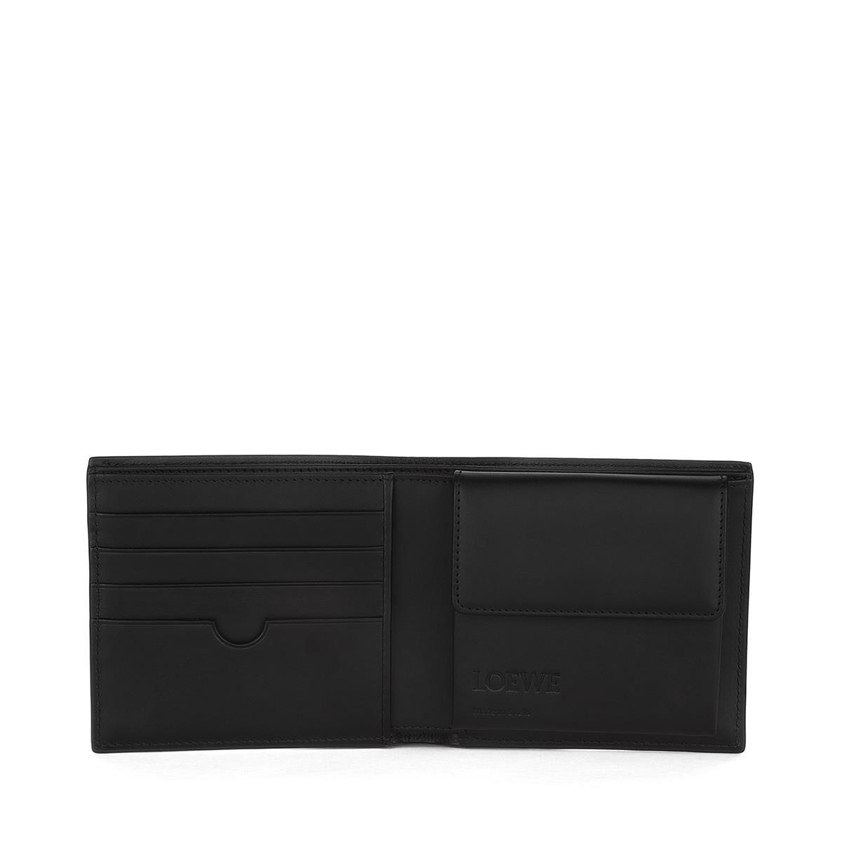 LOEWE Billetero C/Monedero Linen Negro front