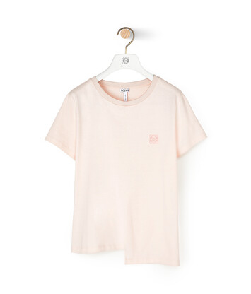 LOEWE Asymmetric Anagram T-Shirt 粉紅 front