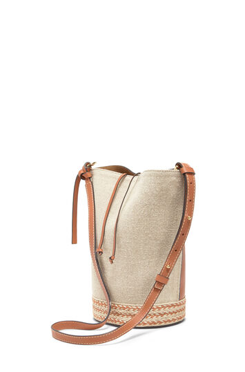 LOEWE Gate Bucket Espadrillas Bag Tan front