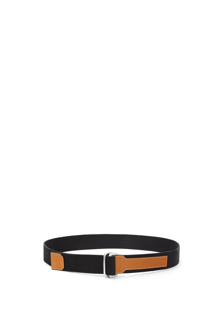 LOEWE Belt in canvas and calfskin Black pdp_rd