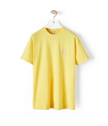 LOEWE Anagram T-Shirt Amarillo Brillante front