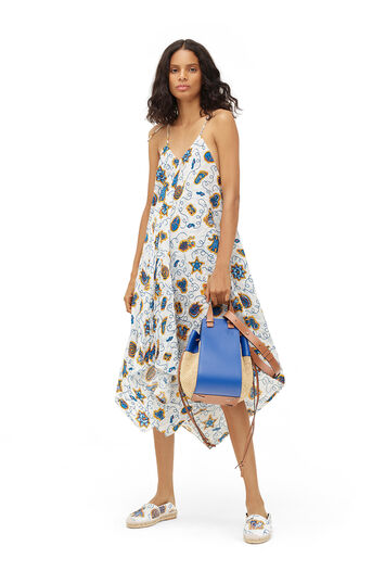 LOEWE Paula Print Strappy Dress White/Multicolor front