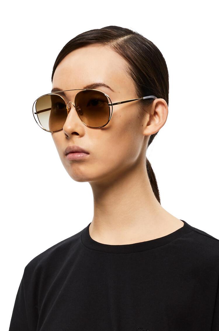 LOEWE Metal round sunglasses Sand pdp_rd