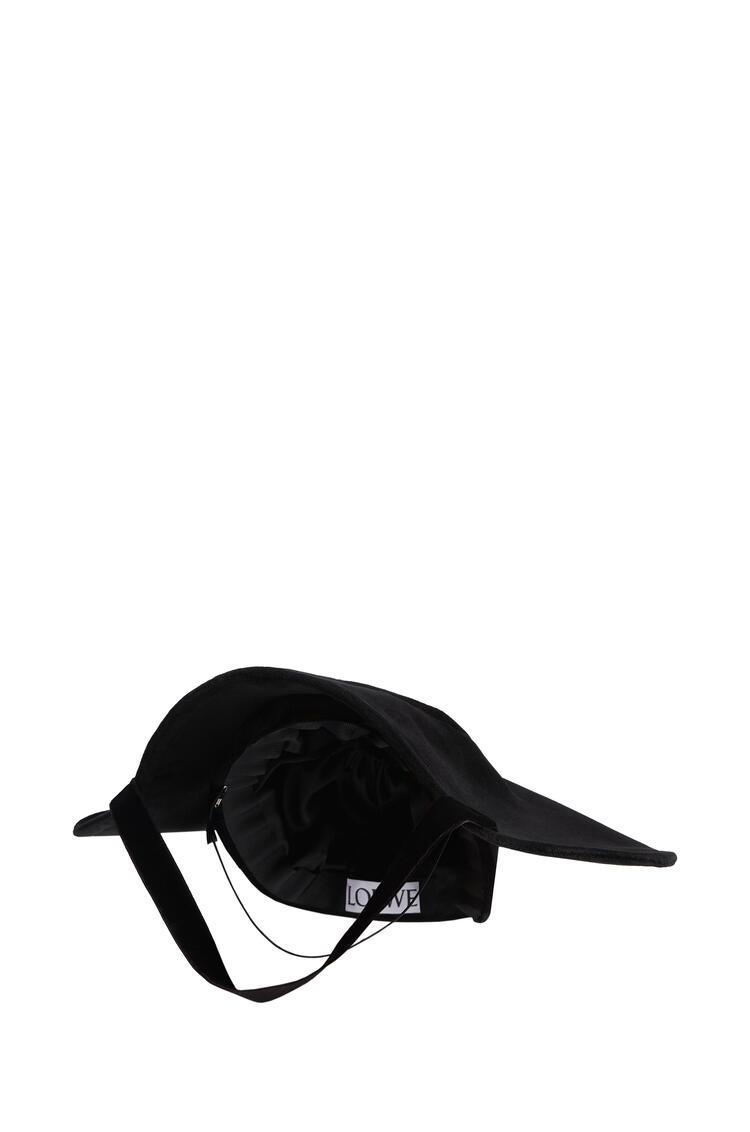 LOEWE Halo hat in velvet Black pdp_rd