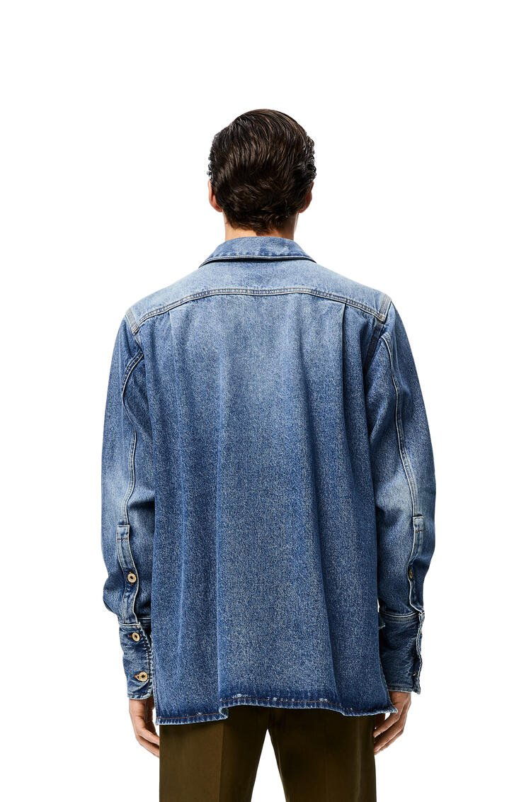 LOEWE Patch pocket shirt in denim 蓝色 pdp_rd