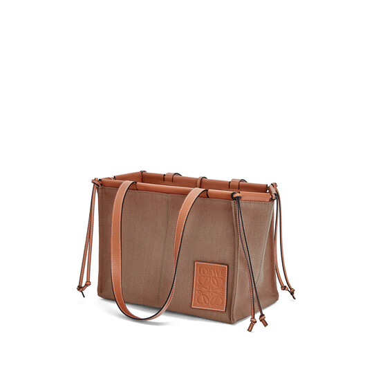 LOEWE Cushion Tote Small Bag 灰褐 front