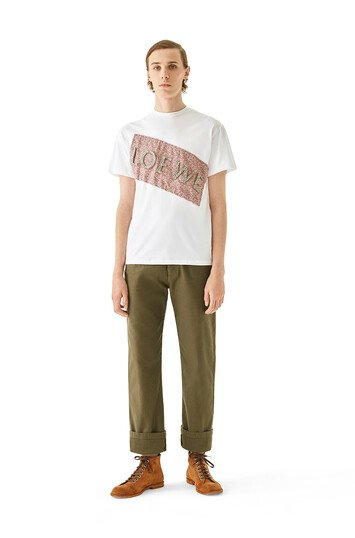 LOEWE Trousers military green front