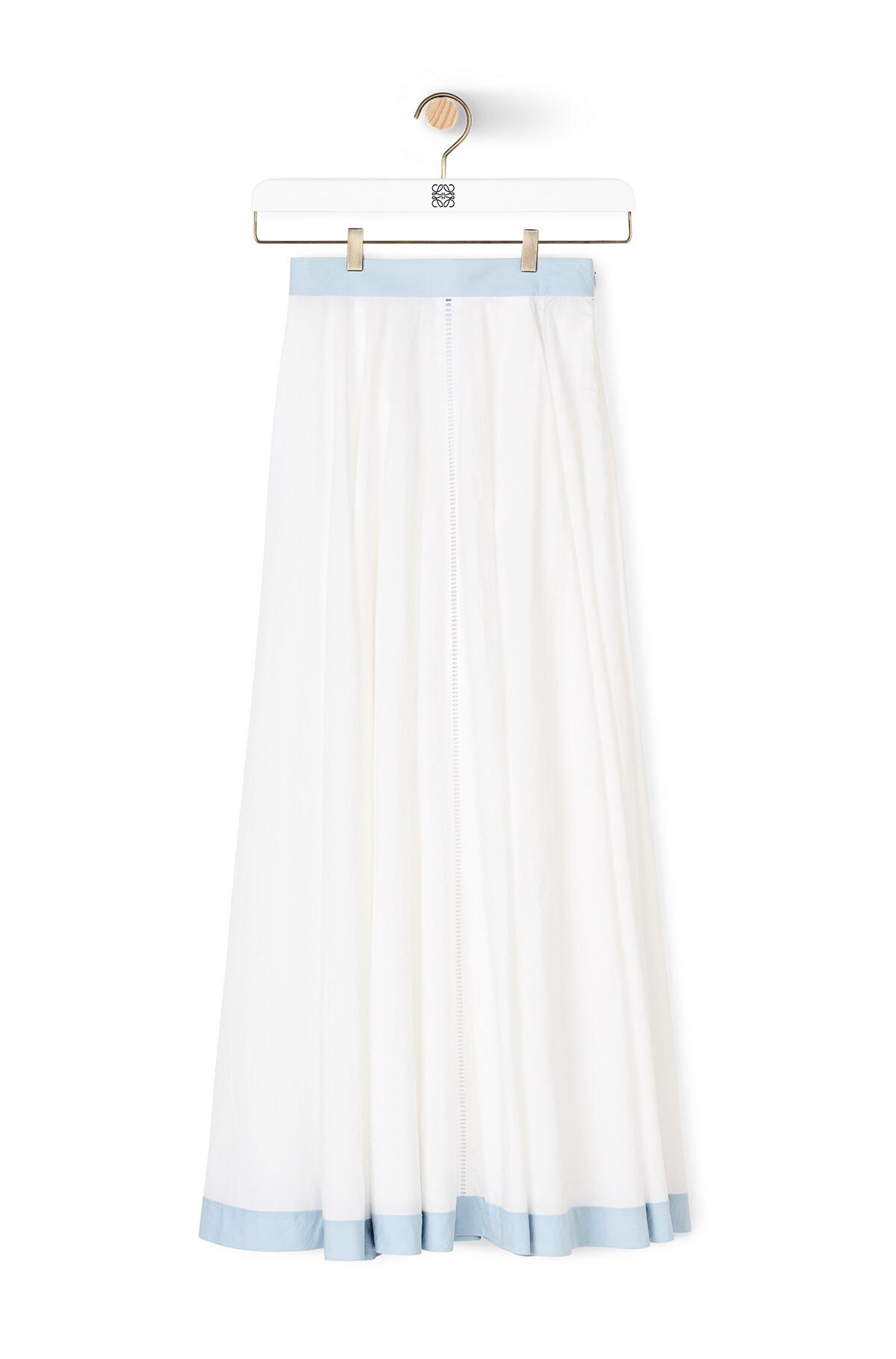LOEWE Circle Skirt White/Blue front