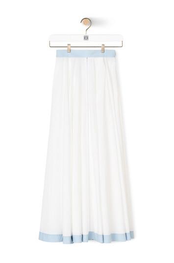 LOEWE Circle Skirt Blanco/Azul front