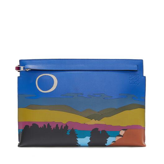 LOEWE T Pouch Landscape Bag マルチカラー front
