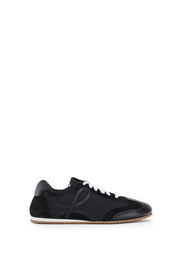LOEWE Ballet runner in nylon and leather Black pdp_rd
