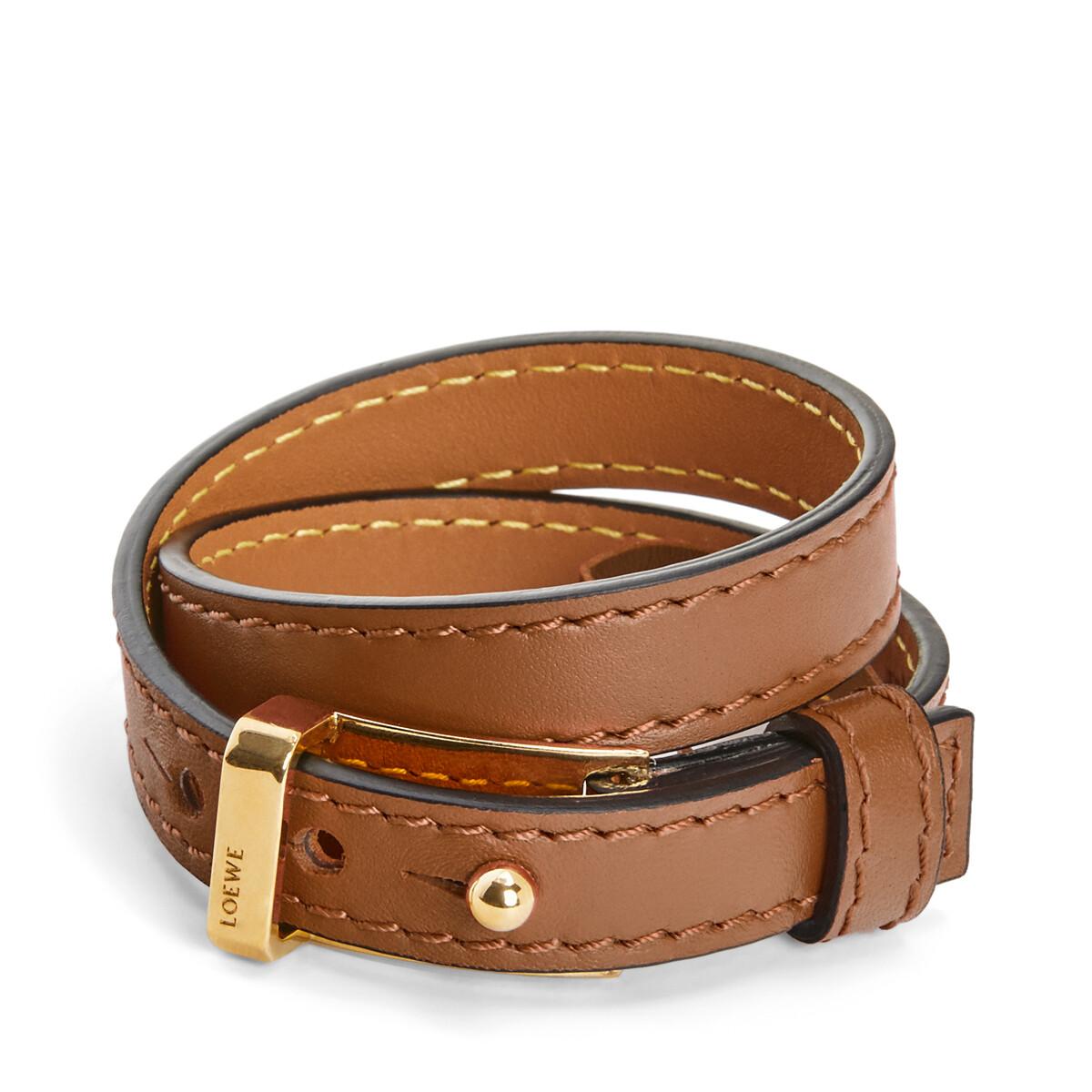 LOEWE Double Bracelet タン front