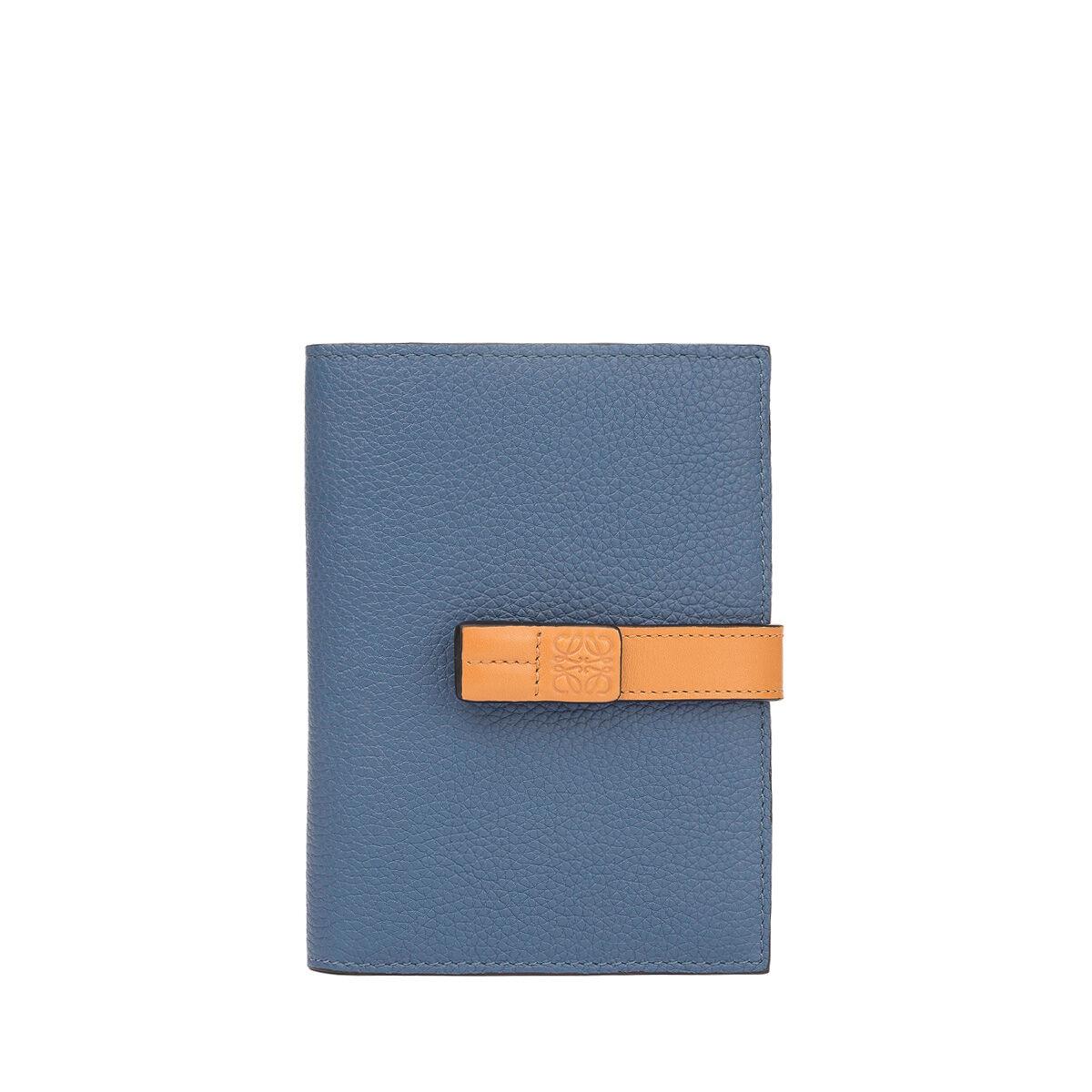 LOEWE Billetero Mediano Vertical Azul Varsity/Miel all