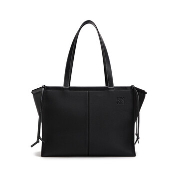 LOEWE Cushion Tote 黑色 front