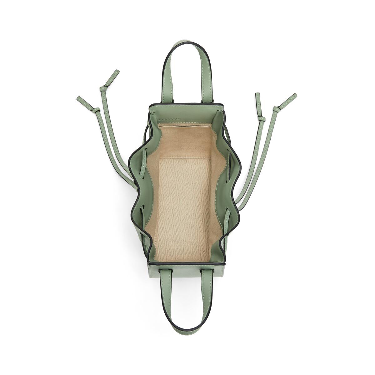 LOEWE Hammock Drawstring Small Bag Pale Green front