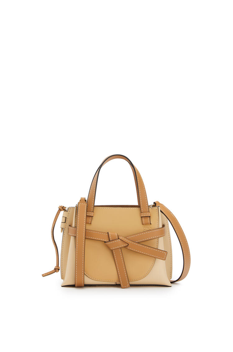 LOEWE Mini Gate Top Handle bag in natural calfskin Dune/Vanilla pdp_rd