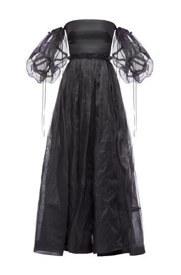 LOEWE Off Shoulder Ball Gown Black front