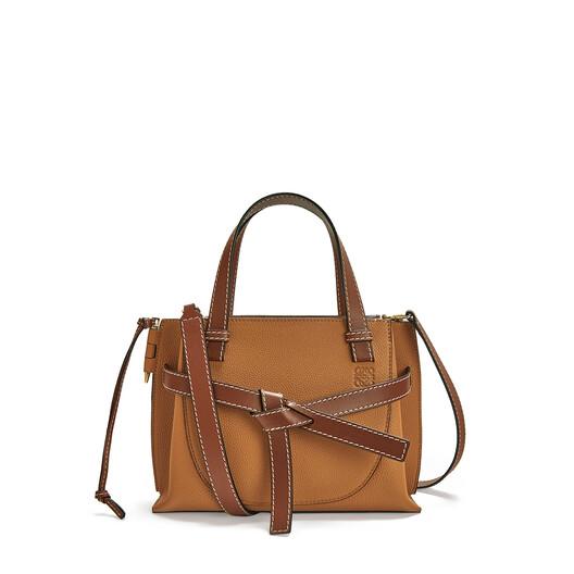 LOEWE Gate Top Handle Mini Bag Light Caramel front